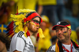 Германия вырвала победу у Швеции на стадионе «Фишт» ©Фото Елены Синеок, Юга.ру