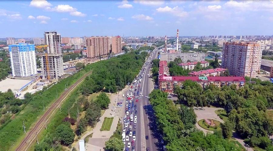 Ростовское шоссе в Краснодаре ©Фото пресс-службы администрации Краснодара