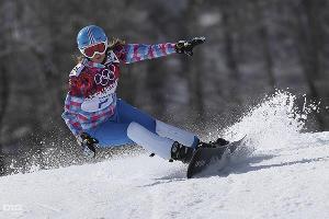 Сноубордистка Алена Заварзина завоевала бронзу в параллельном гигантском слаломе ©РИА Новости