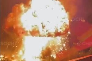 ©Скриншот видео из телеграм-канала «ЧП Сочи», t.me/chp_sochi