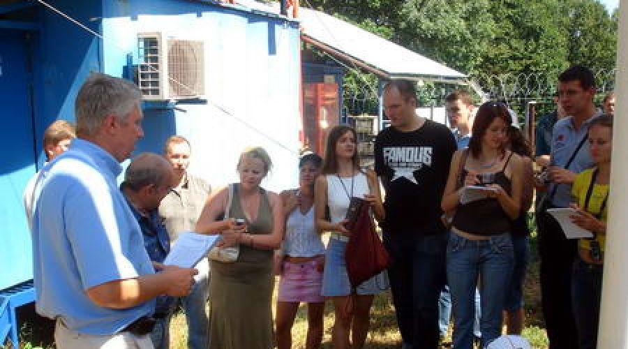 """Журналисты ЮФО на БС """"Молдовановка"""" (Билайн) ©Фото Юга.ру"""