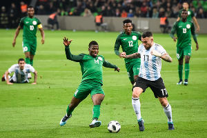 Сборная Нигерии обыграла Аргентину в товарищеском матче в Краснодаре ©Фото Елены Синеок, Юга.ру