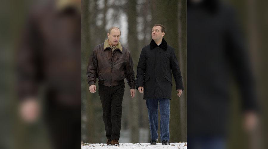 Владимир Путин и Дмитрий Медведев ©Фото Юга.ру