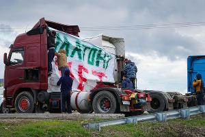 Акция дальнобойщиков против «Платона» ©Фото Андрея Майорова, Юга.ру