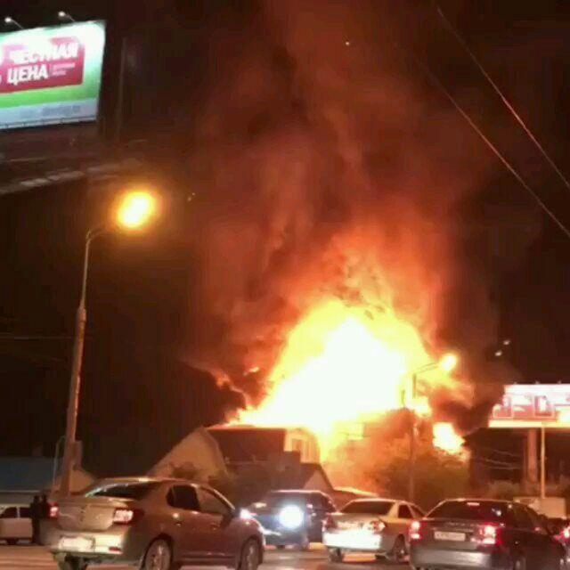 ВКраснодаре впожаре наулице Мачуги пострадали два здания