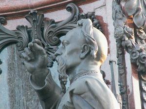 Захарий Чепига, фрагмент памятника Екатерине II