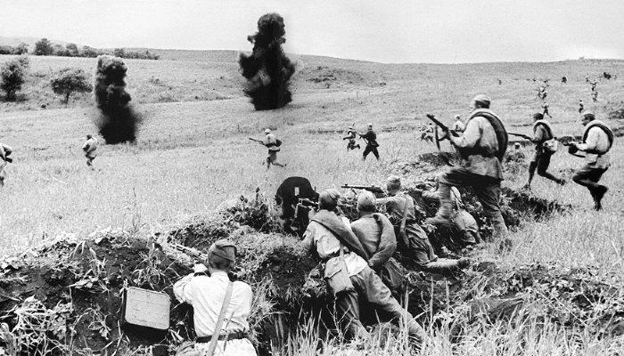 Как Красная армия сражалась на«Голубой линии»