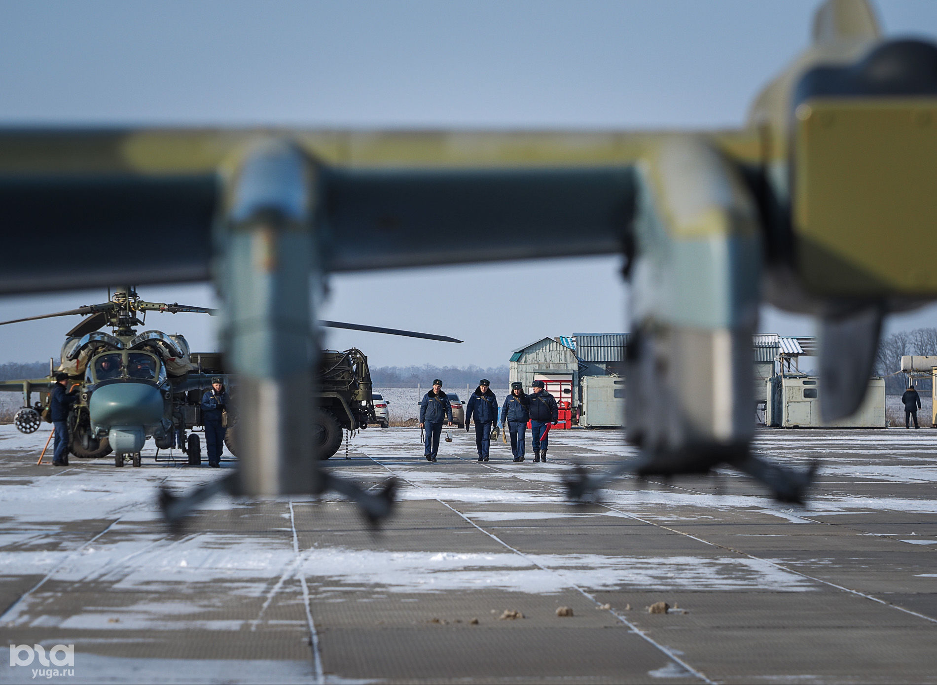 Авиабаза армейской авиации ЮВО в Кореновске ©Виталий Тимкив, Юга.ру