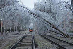 Последствия ледяного дождя в Краснодаре ©Фото Юга.ру