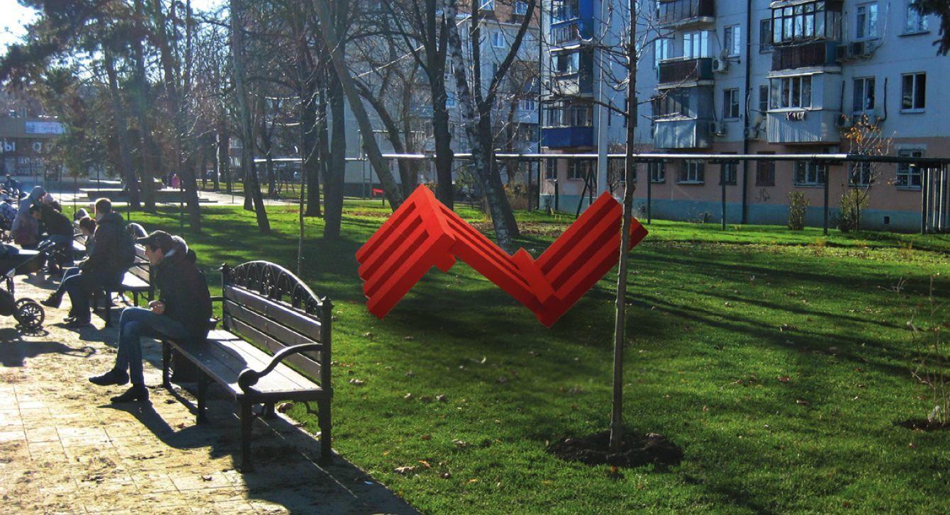 Валерий Казас. Из серии «Красная структура» ©Эскиз предоставлен КЦ «Типография»