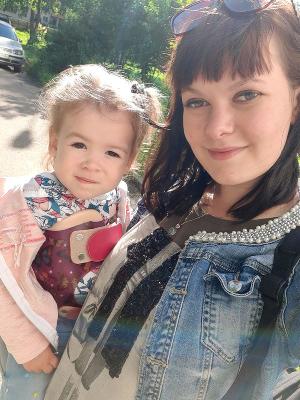 Юлия Пронько с дочерью Дарьей