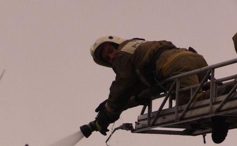 Натерритории Евпаторийского хладокомбината произошел пожар