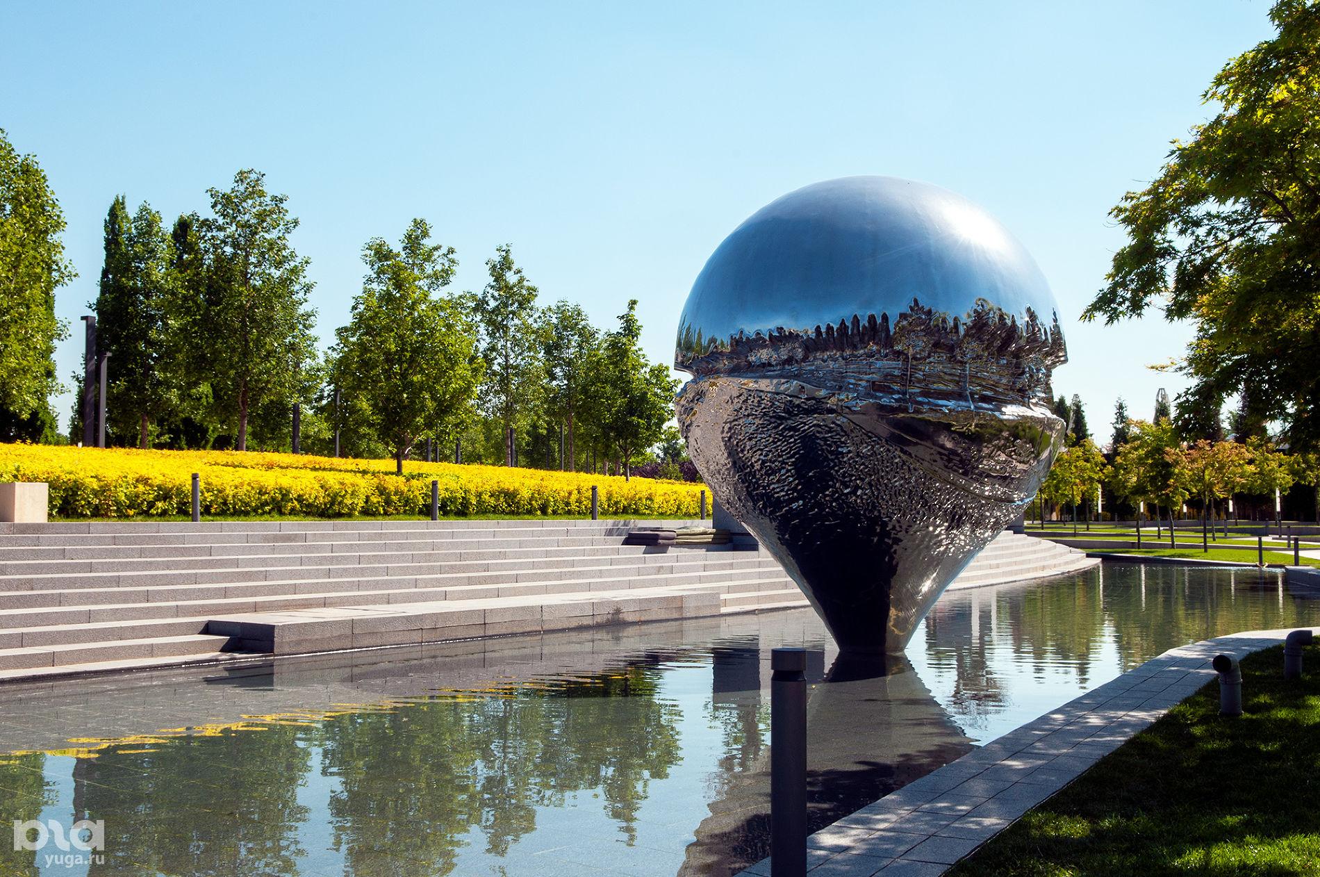 Скульптура «Геолокация» в парке «Краснодар» ©Фото Дмитрия Пославского, Юга.ру