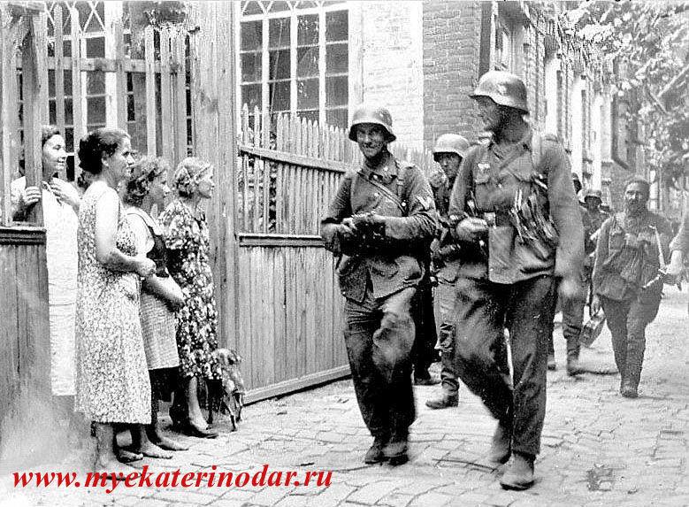 Оккупация Краснодара, август 1942 года ©Фото с сайта myekaterinodar.ru