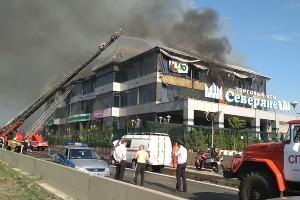Пожар в ТЦ «Северяне» ©Фото пресс-службы администрации Краснодара