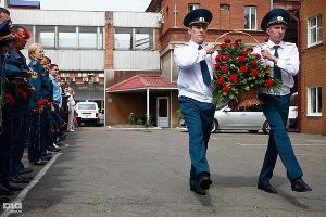 Открытие памятника в честь пожарных, погибших при исполнении ©Влад Александров. ЮГА.ру