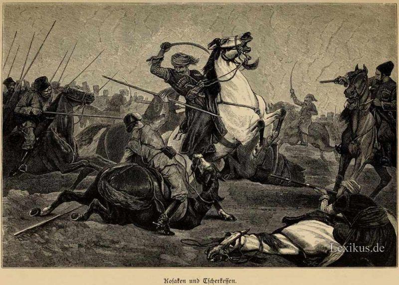 «Битва черкесов с казаками»