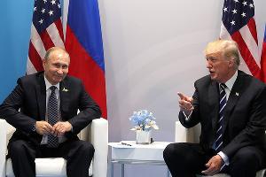 Владимир Путин и Дональд Трамп ©Фото пресс-службы Кремля