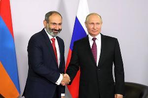 Владимир Путин и Никол Пашинян ©Фото пресс-службы администрации президента РФ