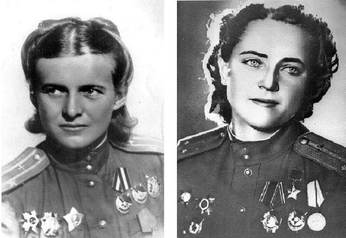 Евдокия Бершанская и Евгения Жигуленко ©Фото с сайта waralbum.ru
