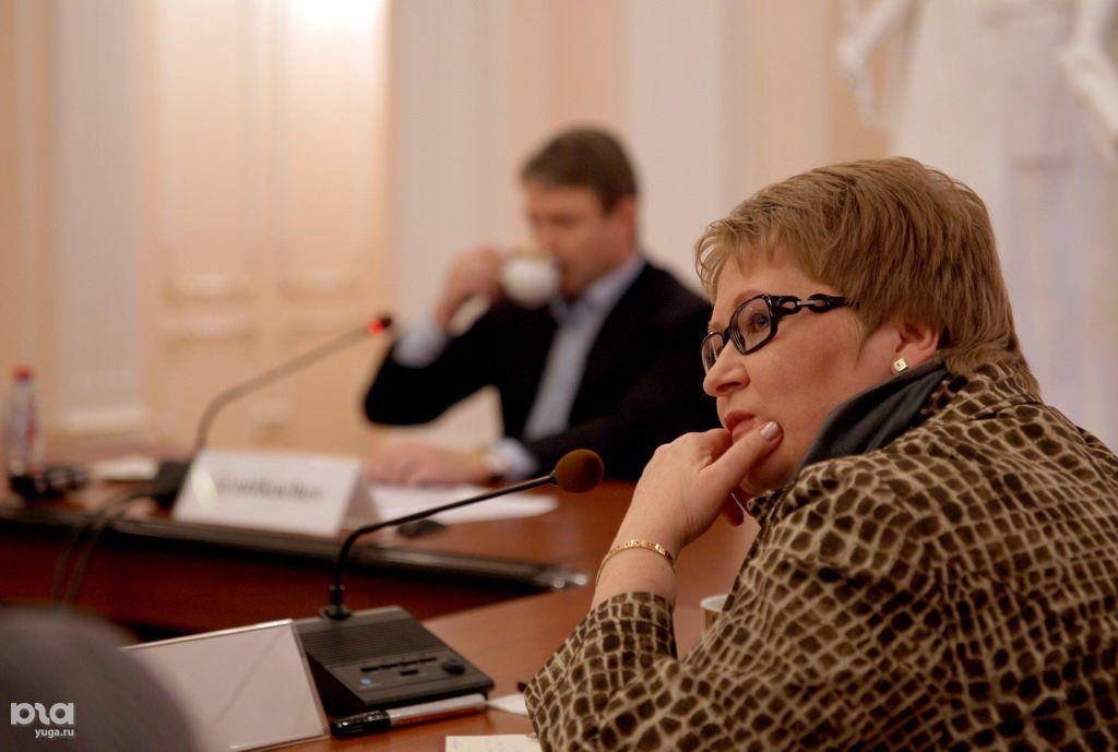 Нина Шилоносова на встрече губернатора А. Ткачева с блогерами Кубани ©Фото Юга.ру