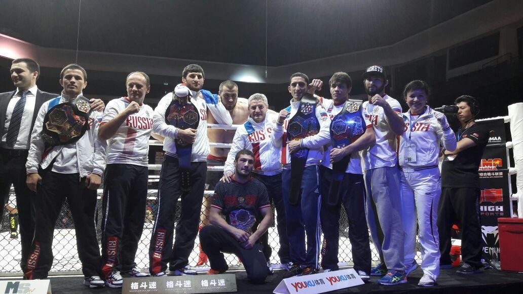 Российская Федерация выиграла чемпионат мира поММА вcеми категориях