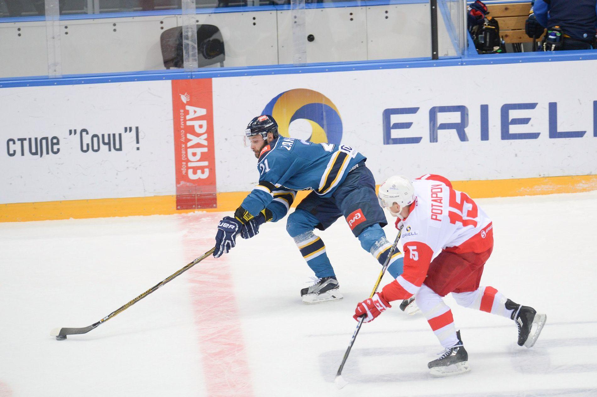 «Спартак» победил «Сочи» вматче чемпионата КХЛ