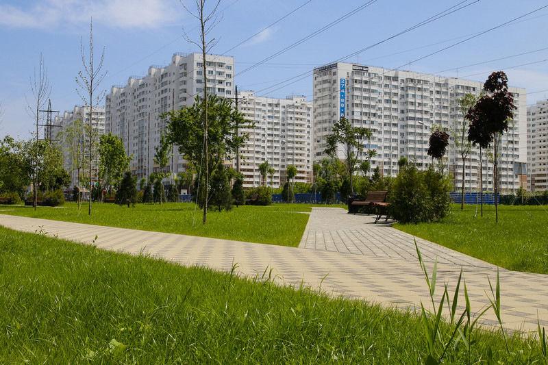 Вновых проектах микрорайонов вКраснодаре 25% займут обособленные зеленоватые зоны