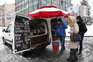Снегопад в Северной Осетии ©Влад Александров, ЮГА.ру