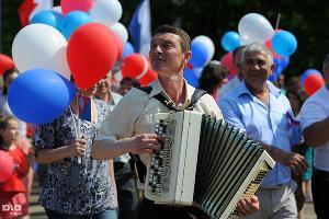 Первомайская демонстрация в Краснодаре ©Фото Елены Синеок, Юга.ру