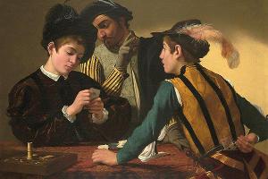 «Шулеры», Караваджо, 1595 год, картина находится в собрании музея Kimbell Art (Форт Норт, штат Техас, США) ©Изображение с ресурса ru.wikipedia.org