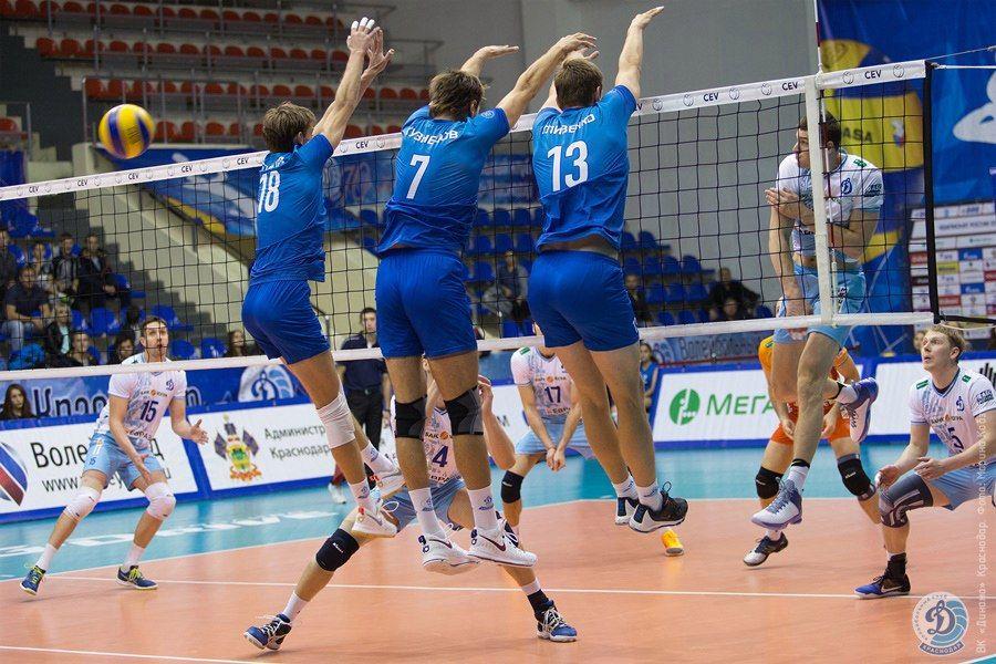 Волейболисты краснодарского «Динамо» уступили одноклубникам в столице