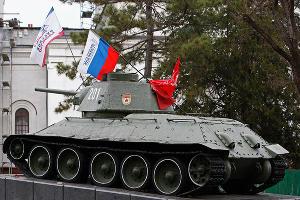 Симферополь после реверендума о присоединении Крыма к России ©Фото Юга.ру
