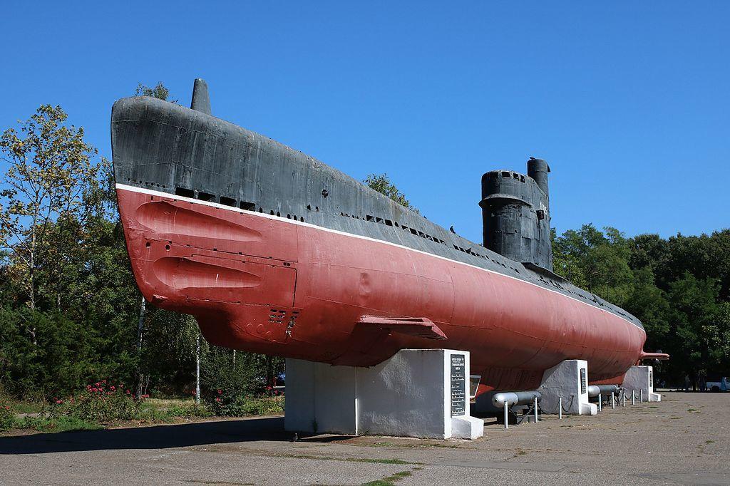 Подводная лодка М-296, Мемориал героической обороны Одессы ©Фото George Chernilevsky с сайта commons.wikimedia.org