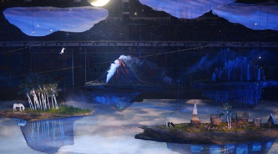 Церемония открытия XXII зимних Олимпийских игр ©РИА Новости
