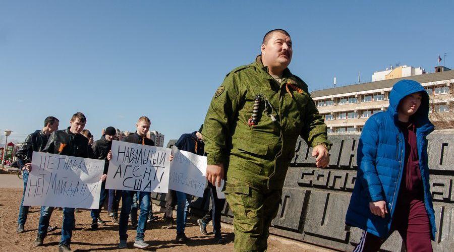 Семен Бойков на антикоррупционной акции сторонников Навального в Чите, 26 марта 2017 года ©Фото Ксении Зиминой, ИА «Чита.Ру»