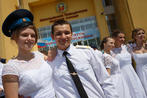 Первый выпуск в Краснодарском президентском кадетском училище ©Фото Виталия Тимкива, Юга.ру