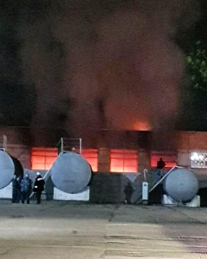 Наскладе хлебозавода вСлавянске-на-Кубани произошел пожар