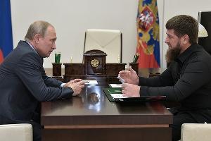 Владимир Путин и Рамзан Кадыров ©Фото пресс-службы администрации президента РФ