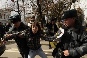 """акция """"за честные выборы"""" в Краснодаре ©Сергей Карпов. ЮГА.ру"""