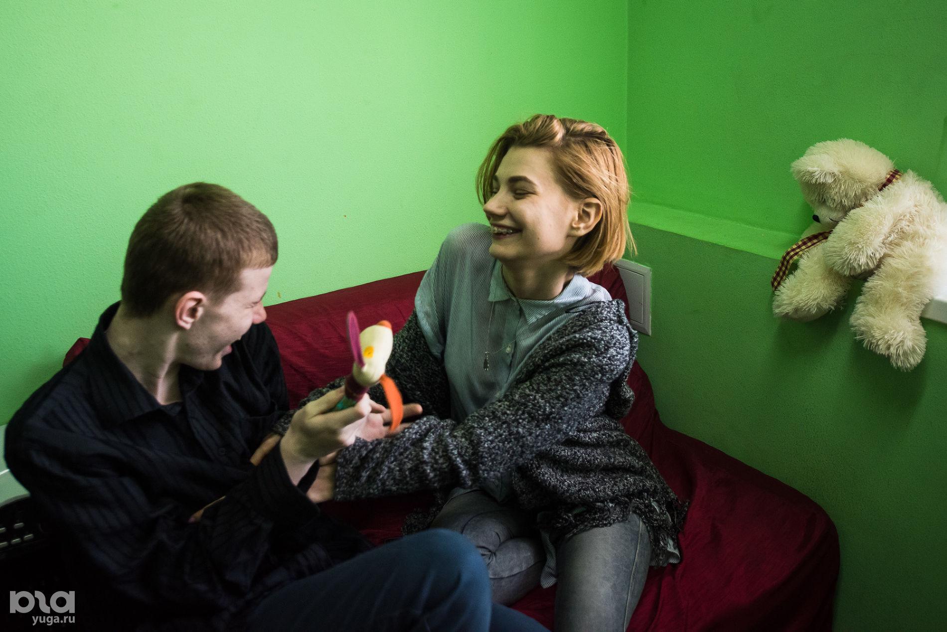 Анна Сметана на занятии с Никитой ©фото Елены Синеок