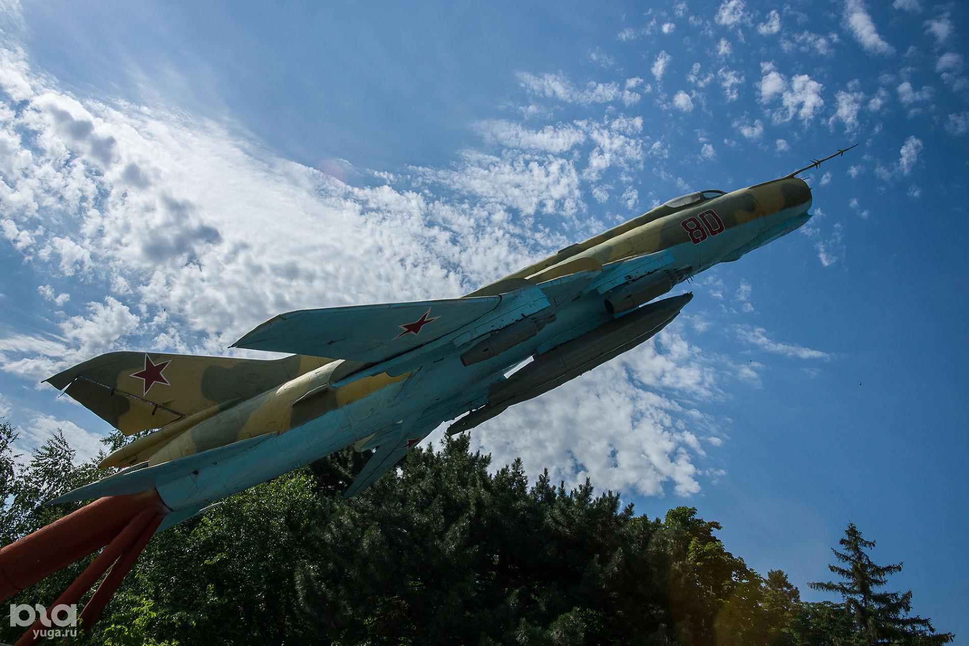 Памятник «Слава авиации» на улице Дзержинского ©Фото Евгения Мельченко, Юга.ру