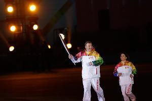 Церемония открытия XXII зимних Олимпийских игр в Сочи. Владислав Третьяк и Ирина Роднина ©РИА Новости