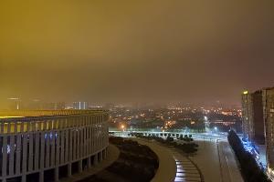 Смог над Краснодаром вечером 14 октября ©Фото Евгения Таранжина