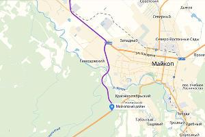 Майкоп ©Графика «Яндекс.Карты»