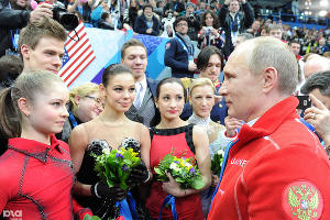 Владимир Путина на Олимпиаде-2014 ©Фото Юга.ру