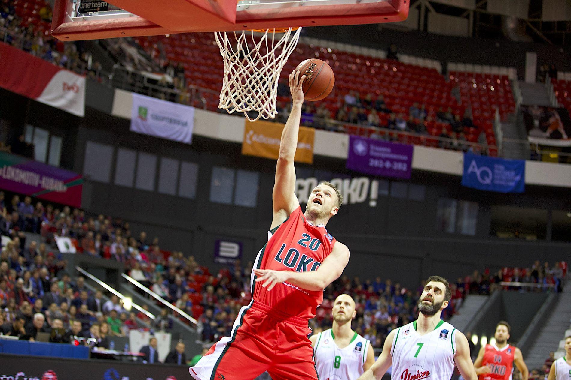 Баскетболисты «Локомотива-Кубани» дома победили словенскую «Олимпию» вматчеКЕ