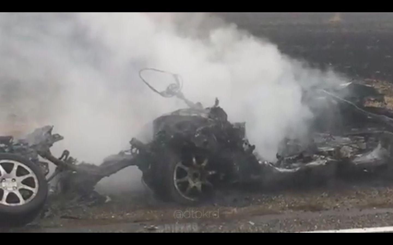 Шофёр наКубани сгорел вместе с Лада в итоге ДТП сКамАЗом